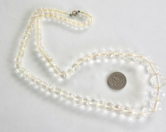 Graduated Crystal Bead Necklace