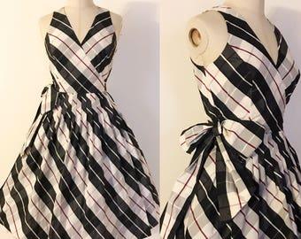 1950s style dress • 1990s does 1950s dress • 1950s plaid dress