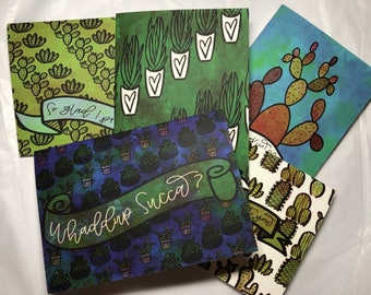 Cactus and Succulent Greeting cards