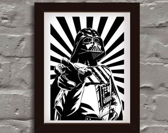 star wars, darth vader, digital print A4printable, print
