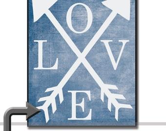 Love Arrows Wall Art on Wood