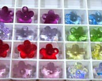 12mm 6744 Swarovski Crystal Flower Choose Colour Pendant 6p Loose Beads DIY for Jewelry Making