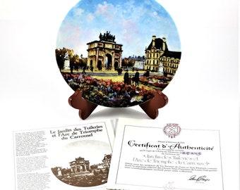 Louis Dali Le Jardin Des Tuileries Et L'Arc De Triomphe Du Carrousel w/ COA