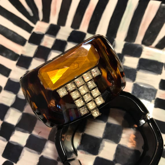 Diamonds and Rust Original Deco Design Vintage Bracelet