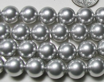 5810 Light Gray Grey 8mm Swarovski Crystal Pearls Qty 10
