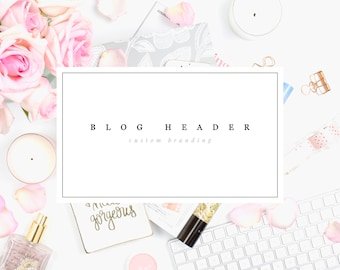 Custom Blog Header • Custom Website Header • Blog Logo Design • Custom Squarespace Logo • Custom Wordpress Blog Header • Header Design