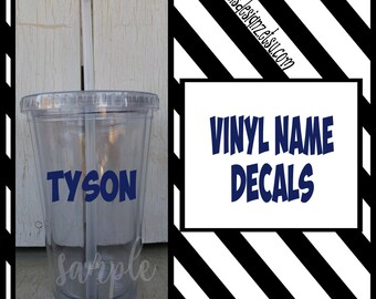 Personalized name for cups Customized name for tumbler cup Monogram tumbler cups personalized name for cups, vinyl decal for cup, vinyl yeti