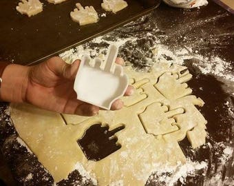 Middle Finger Gag Gift / Funny Cookie Cutter and Fondant Cutter