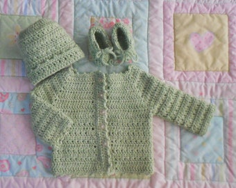 Green Baby Sweater