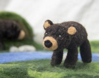 Waldorf Inspired Needle Felted Woodland Bear
