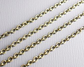 1 m fine bronze chain links 2 x 2 mm