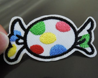 Candy Patches - Iron on Patch or Sewing on Patch Colorful Candy Patches Embroidered Patch Candies Embellishment