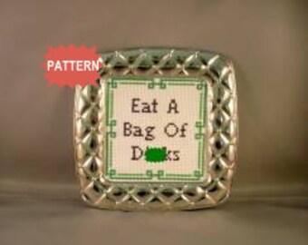 PDF/JPEG Eat A Bag of D-cks  (Pattern)