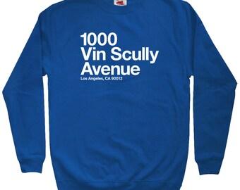 Los Angeles Baseball Stadium Sweatshirt - Men S M L XL 2x 3x - Crewneck, L.A. Shirt, Fan, California, Sports - 4 Colors