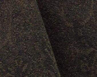 Brown/Black Wool Paisley Jacquard, Fabric By The Yard