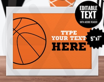 Basketball Place Cards. Editable Table Signs. Buffet Cards - Food Cards. Printable Sports Team, Kids Birthday Party Table Signs. Table Decor