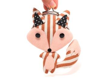 Kleine stripey Rotfuchs Kupplung Geldbeutel
