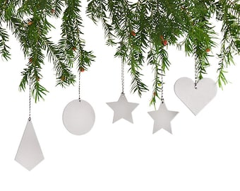 Christmas tree ornament minimal modern urban made of cardboard by renna deluxe