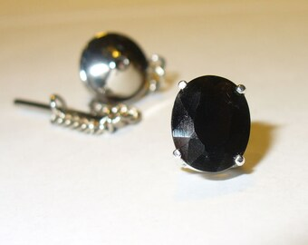 Tektite Tie Tack or Lapel Pin - Genuine Space Gem in Sterling Silver  - Your Own Falling Star!