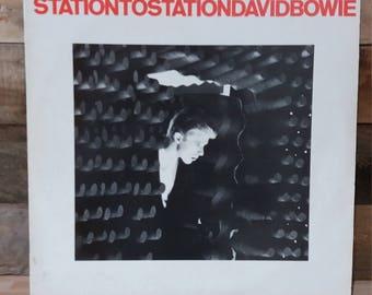 Old antique David Bowie StationtoStation LP