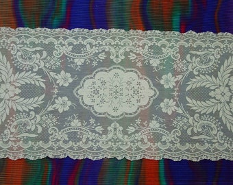 """Lovely Lace Runner, Dresser Scarf Cream Color, 14 x 31 1/2"""""""