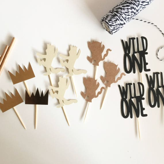 Where the Wild Things Are Party Cupcake Toppers | Where the Wild Things Are Topper | Wild One Topper | Wild One Party