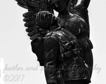 Angel photography, guardian angel, angels, Vancouver photography, black and white, Travel Photography,  angel statues