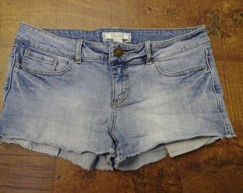 Forever 21 acid wash jean shorts