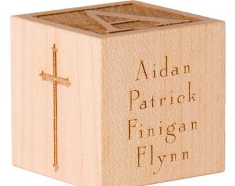 Personalized Baptism Block Gift for Godson Gift for Goddaughter Personalized Baby Dedication Gift Christening Gift Baptism Gift for Baby