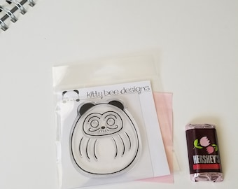Daruma Good Luck Panda Clear Stamp