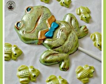 Frog Gift Chocolates/Frog Lollipop/Edible Frog/Frog Lover/Cute Frogs/Boys/Girls/Birthday Gift/Children/Son/Daughter/Friend/Kids/Fun Frog