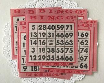 Vintage Bingo Cards - Old Bingo Cards - Paper Bingo Cards - Vintage Game Cards - Retro Bingo - Vintage Game Pieces - Vintage Ephemera