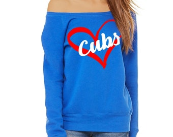Chicago Cubs - Off the Shoulder Sweatshirt