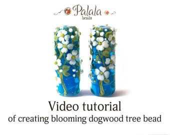 Lampwork bead tutorial video, The making of glass beads