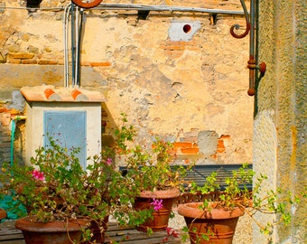 Wishing Well - Italy photography - Tuscany, Italy - Fine art travel photography - terracotta, blue, green