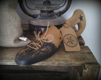Old wooden shoe