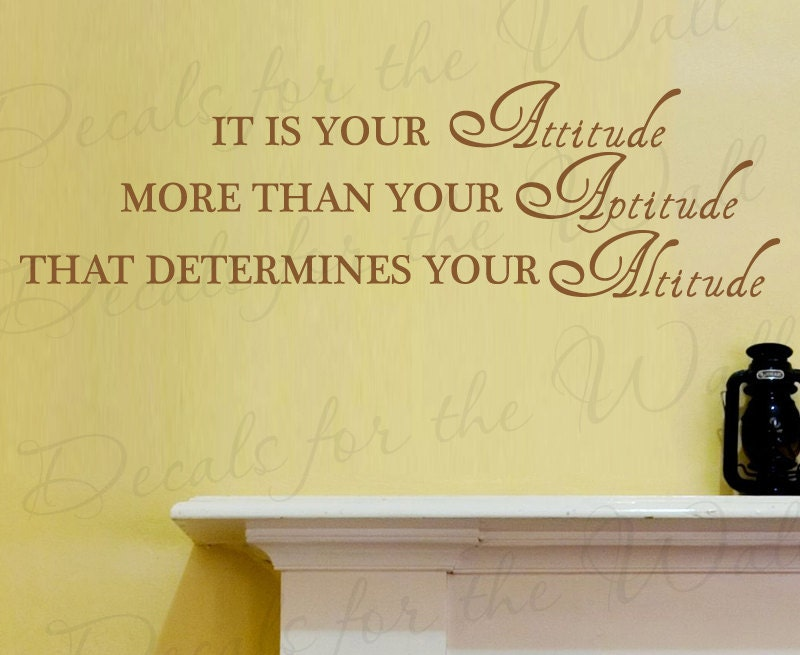 Its Your Attitude More than Your Aptitude that Determines