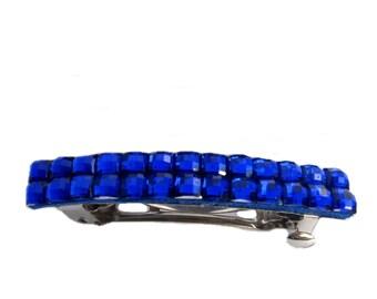 Royal Blue Hair Clip, French Barrette, Blue Hair Barrette, Handmade Hair Accessories
