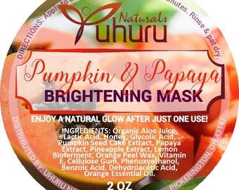 Papaya & Pumpkin brightening Peel with Aloe Juice, Lactic Acid, Honey, Glycolic Acid, Pineapple Extract,  Papaya Extract 2 oz