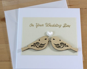 Unique wedding card, Wedding card handmade, Wedding Day Card, Elegant wedding card, Handmade wedding card, wedding day,  Romantic  card