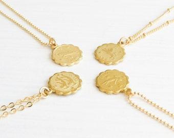 Dainty Zodiac Necklace   Zodiac Necklace   Delicate Zodiac Necklace   Gold Zodiac Necklace   Horoscope Necklace   Birthday Gift