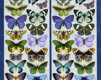 BUTTERFLY STICKERS, Blue Butterfly Stickers, Green Butterfly Stickers, Butterflies, Victorian Butterflies, Violette Stickers, Nature Sticker
