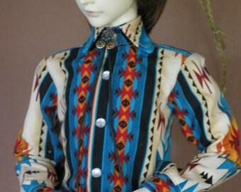 Urban Cowboy shirt for BJD Dollfie Sd13 boys sizes