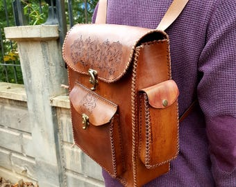 natural leather backpack, men's Leather backpack,women leather backpack, genuine leather backpack,handmade leather backpack,leather rucksack