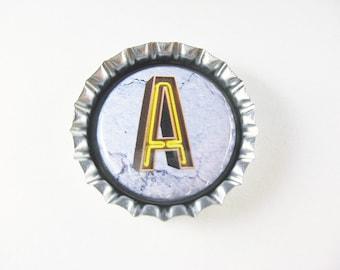 Bottle Cap Fridge Magnet Home & Living, Kitchen, Storage Choice of Letter Neon Personalize