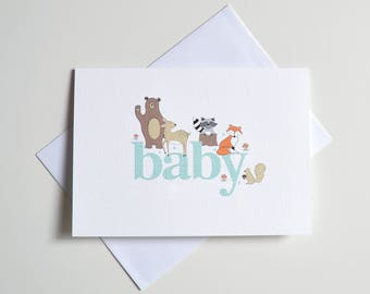 Greeting Card - Baby Forest Animals