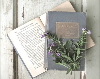 """Book Photography, Book Art, Shabby Cottage Chic Art, Vintage Book Print, Library Office Art, Old Book Rustic Farmhouse Decor- """"Journeys"""""""
