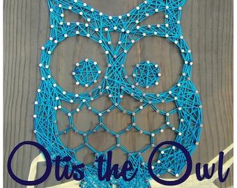 """String Art Pattern - Otis the Owl - 9.5"""" x 7.5"""""""