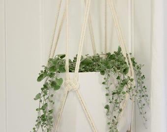 Custom Macrame Plant Hanger - Large Hanging Planter, Natural Cotton Rope Hanger, Hanging Planter | Free Shipping Australia