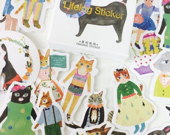 Funny Animal Stickers - Planner Stickers - Animal Stationery - Reward Stickers